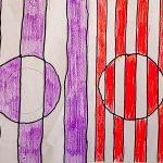 Чвиховский Саша, 5 лет. Инопланетные корабли. Семейные мастерские. Виктор Вазарели Оптическое искусство