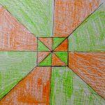 Гильгур Федор, 8 лет. Оптический квадрат. Семейные мастерские. Виктор Вазарели Оптическое искусство