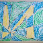 Шубников Илья, 6 лет. Большая буква И. Семейные мастерские. Виктор Вазарели Оптическое искусство